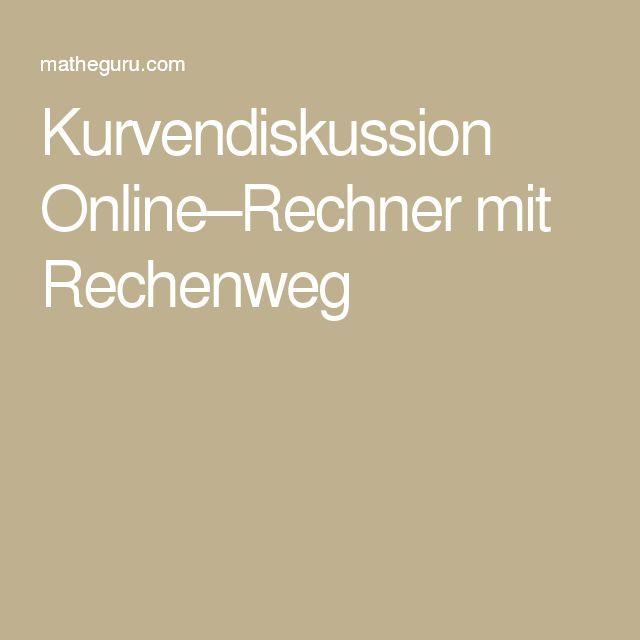 kurvendiskussion online rechner