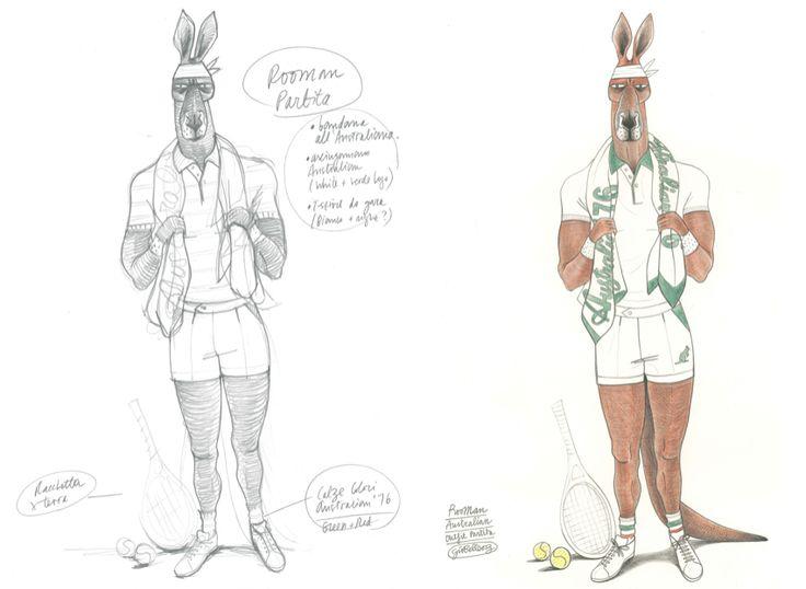 Ispirandoci alla tecnica, eleganza e classe nei movimenti dei grandi tennisti australiani degli anni '50, il Canguro Australian è diventato il simbolo della nostra linea di abbigliamento #sportswear.  Vi presentiamo Rooman.