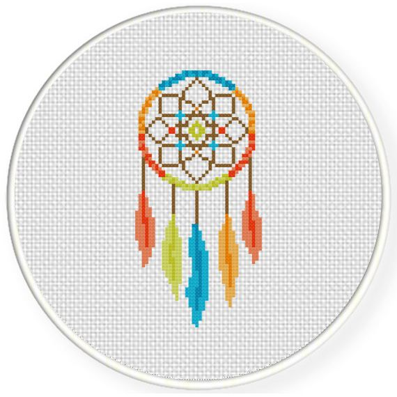 FREE for May 2nd 2015 Only - Color Dream Catcher Cross Stitch Pattern