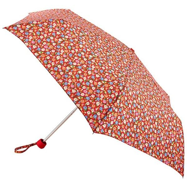 Cath Kidston by Fulton Minilite-2 Meadow Ditsy Umbrella, Red ($31) ❤ liked on Polyvore featuring accessories, umbrellas, folding umbrella, lightweight umbrella, red umbrella and wind resistant umbrella