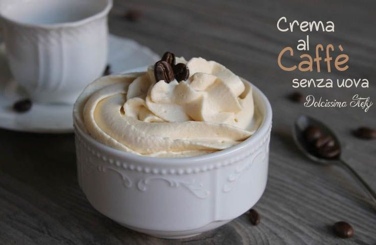 Crema al Caffè,senza uova