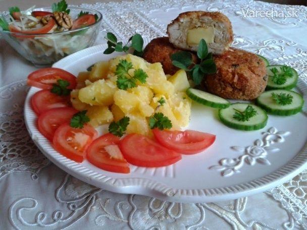 Mleté morčacie prsia plnené syrom s pamajoránom (fotorecept) - Recept