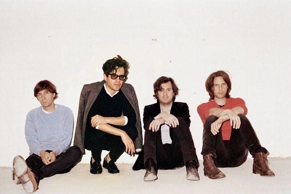 Thomas Mars, Laurent Brancowit, Christian Mazzalai and Deck d'Arcy of Phoenix.