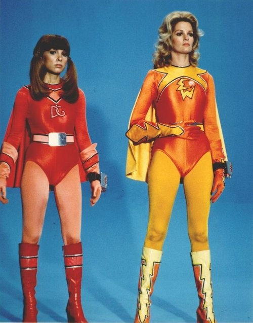 Electra Woman and Dyna Girl are often quoted in pop culture. Frequently it is in reference to their part in feminism and the rise of the female role model in the 1970s. This started with the Wonder Woman television show in 1974, continuing with Isis on CBS Saturday morning from 1975-77, and Charlie's Angels, which began in the Spring of 1976. Each of these shows do have influences on the program, with a clear inspiration from Wonder Woman and Wonder Girl. They also anticipate the ground…