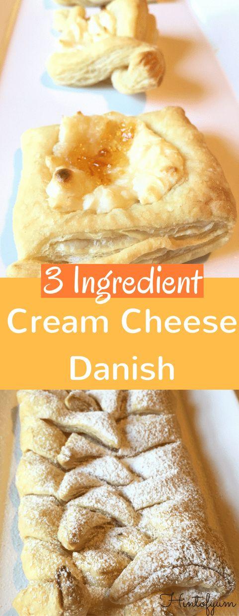 easy Cream Cheese Danish 3 ingredient dessert recipe puff pastry design starbucks from scratch strawberry orange quick tasty low sugar dessert