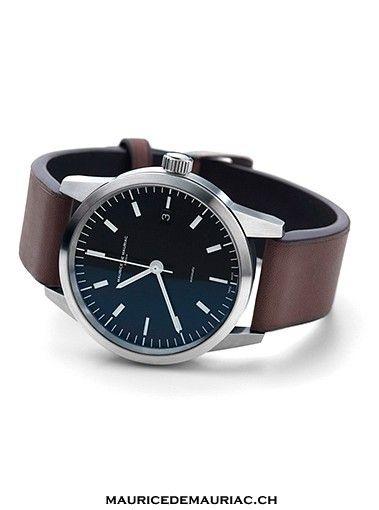 classic design in the L1 watch from Maurice de Mauriac. Design by Fabian Schwaerzler  http://mauricedemauriac.ch/ watches for men