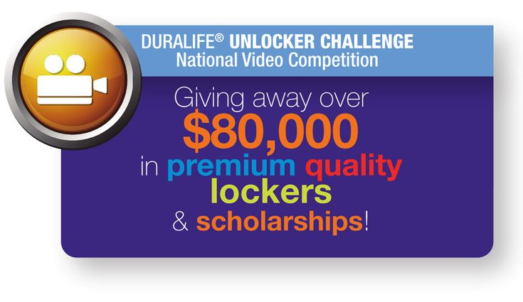 Middle School and #highschool #teens #video opportunity. Grand Prize $50,000 in new lockers for your school and a $7,500 #scholarship too.   A national video competition designed to create an enriching learning experience for students, while providing schools the opportunity to win free lockers and scholarships. See Details ~ Deadline: March 4, 2016