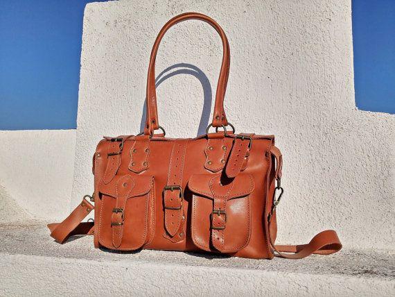 Leather Handbag Shoulder Bag Crossbody All Day by LeatherStrata