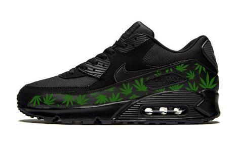 super popular 0878b 2997a Bandana Fever Weed Print Custom Black Nike Air Max Shoes – Bandana Fever  Designs