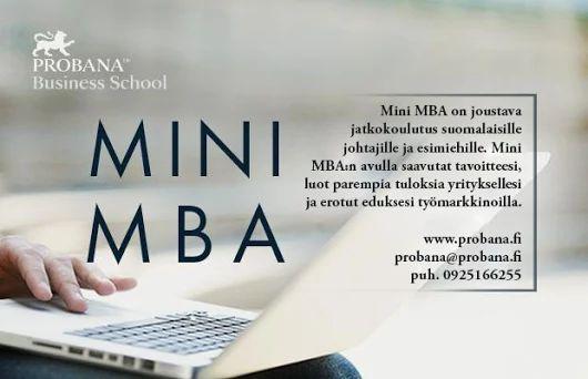 Mini MBA-johtajakoulutus