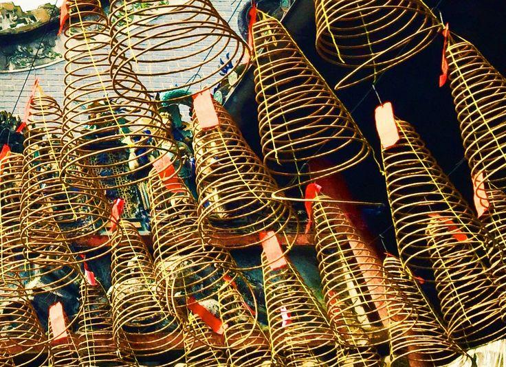 Incense burners at Thien Hau temple, Saigon, Vietnam.  www.reddoorponderings.com Instagram.com/reddoorponderings
