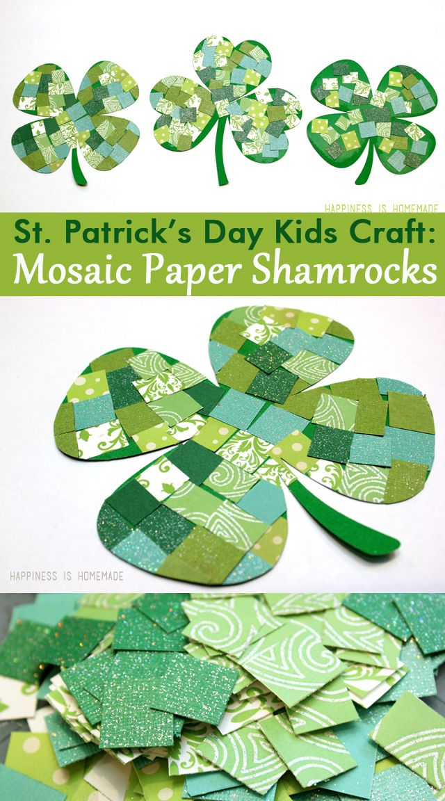 march craft ideas for kids st s day craft mosaic paper shamrocks 6901