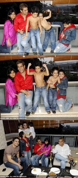 Salman Khan with his family
