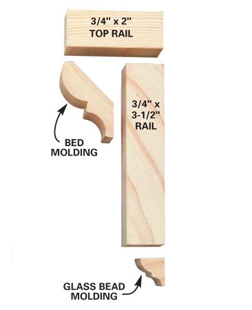 Chair rail parts