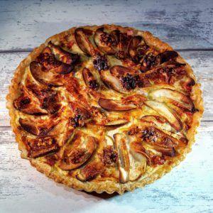 Quiche met brie, appel en walnoten   Out mijn keuken