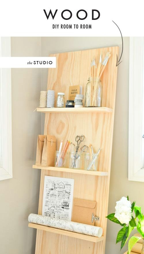 Leaning Wall Shelf Plans - WoodWorking Projects & Plans