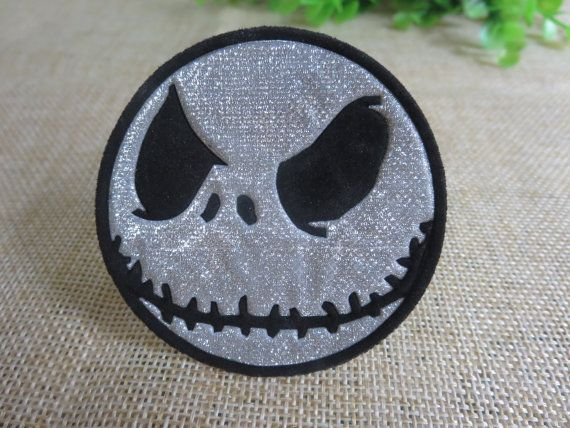 The Nightmare Before Christmas Jack Iron on Patch 024-HA  Measurement: Width: 6.3 cm (2.5 inch) Length: 6.3 cm (2.5 inch)   Please do not hesitate to