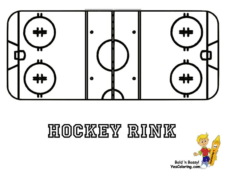 free colouring page of hockey rink at yescoloring - Coloring Pages Hockey Players Nhl