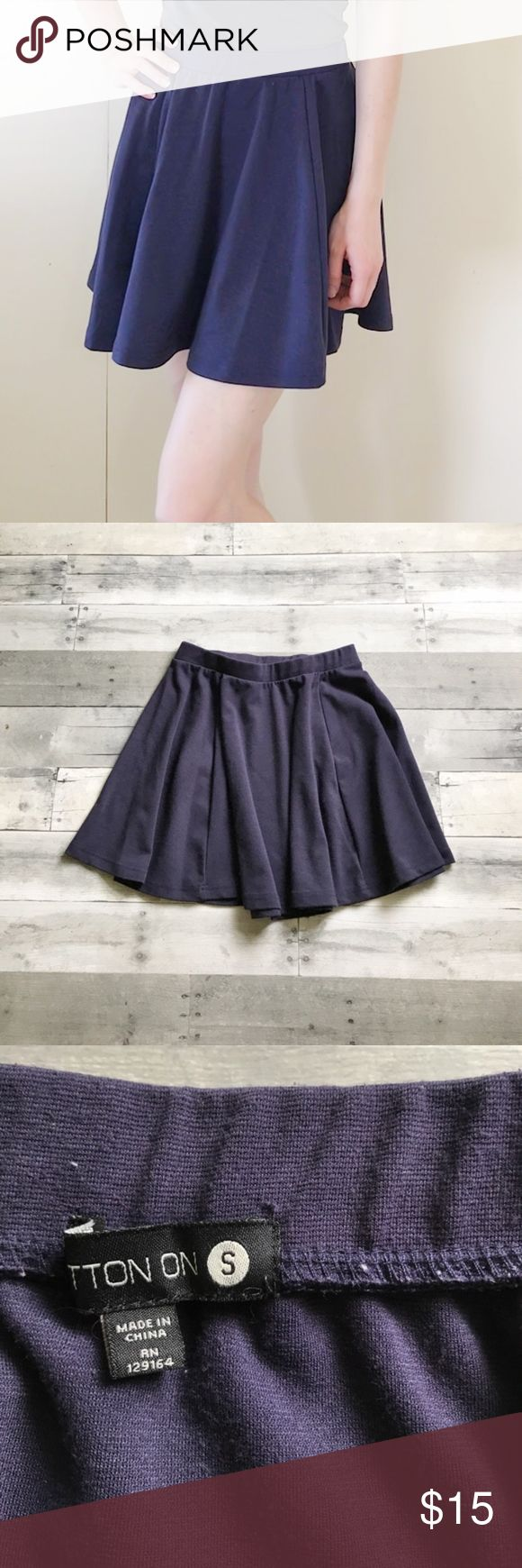 ⭐️NEW LISTING⭐️ Cotton On Navy Circle Skirt Great heavy-knit circle skirt from Cotton On in EUC!  Navy blue skirt with a good firm stretch. Flattering seams! Perfect for the cold weather as this skirt is not light weight and won't be blown around so easily by the wind! Great with tights and your favorite boots! Cotton On Skirts Circle & Skater