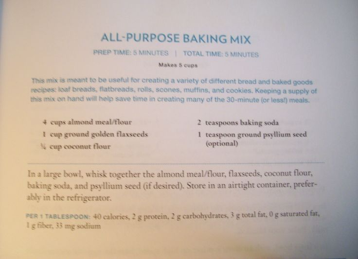 All Purpose Baking Mix [Wheat Belly 30-Minute (Or Less!) Cookbook by William Davis]