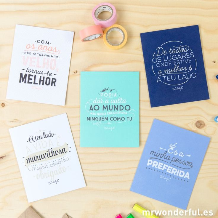 Pack of 5 greetings for every occasion #portuguese #greetings #mrwonderfulshop #stationery