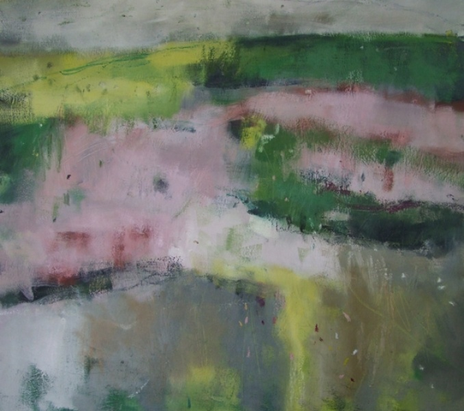 DESCRIPTION: Andy Waite Semi abstract expressionist painting. Oil on Canvas.   Location: Sussex    £1550