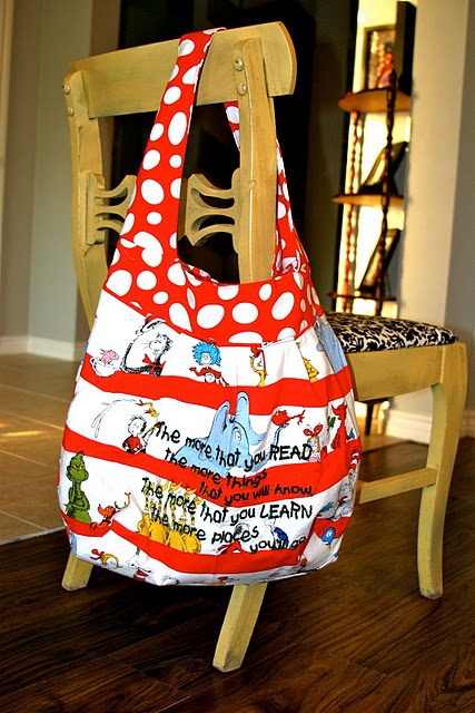 Dr Seuss library bag:
