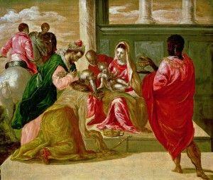 El Greco Pokłon trzech króli 1567-1570, olej na desce