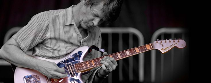 Iconic mods: Nels Cline's '69 Jaguar and '59 Jazzmaster.  Why does the Wilco guitarist call his '69 Jaguar 'Silver Bastard?' Find out here: