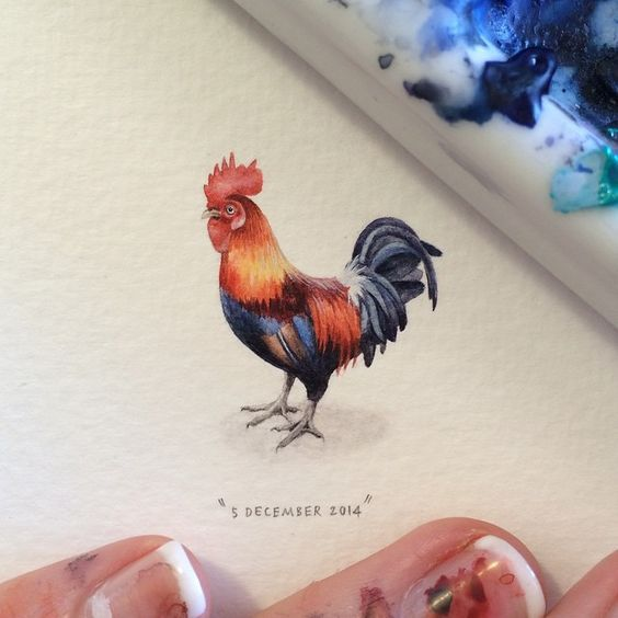 Best Miniatures Images On Pinterest Miniature Paintings - Artist creates miniature paintings everyday entire year