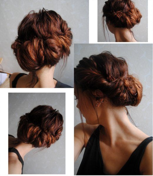 Romantic chignon & how to videoHair Colors, Bridesmaid Hair, Messy Hair, Long Hair, Beautiful, Messy Updo, Girls Hairstyles, Messy Buns, Hair Style