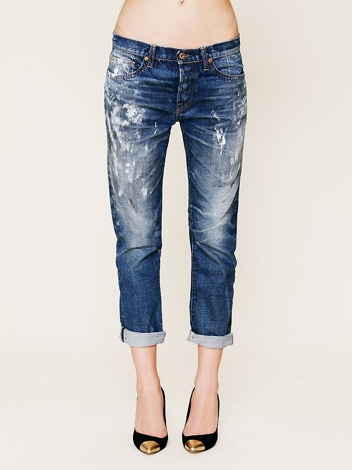 NSF Destroyed Boyfriend Painter Jean at Free People Clothing Boutique