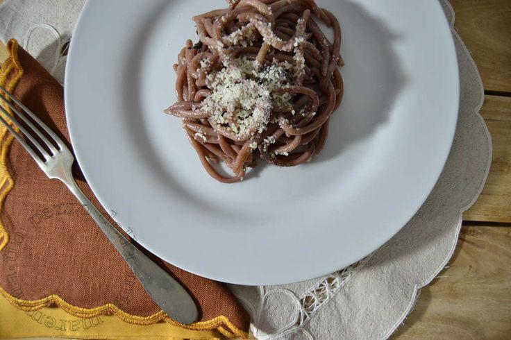 Pici di farina saragolla con riduzione al vino rosso