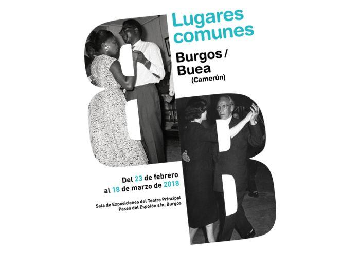 """Imagen para la exposición """"Lugares comunes, Burgos/Buea"""". Red Comunicación Gráfica, diseño gráfico, identidad, packaging, web"""