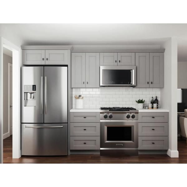 Contractor Express Cabinets Veiled Gray Shaker Assembled Plywood 36 In X 34 5 In X 24 In Sink Base Kitchen Cabinet With Soft Close Sb36 Xvg The Home Depot In 2021 Kitchen Cabinets