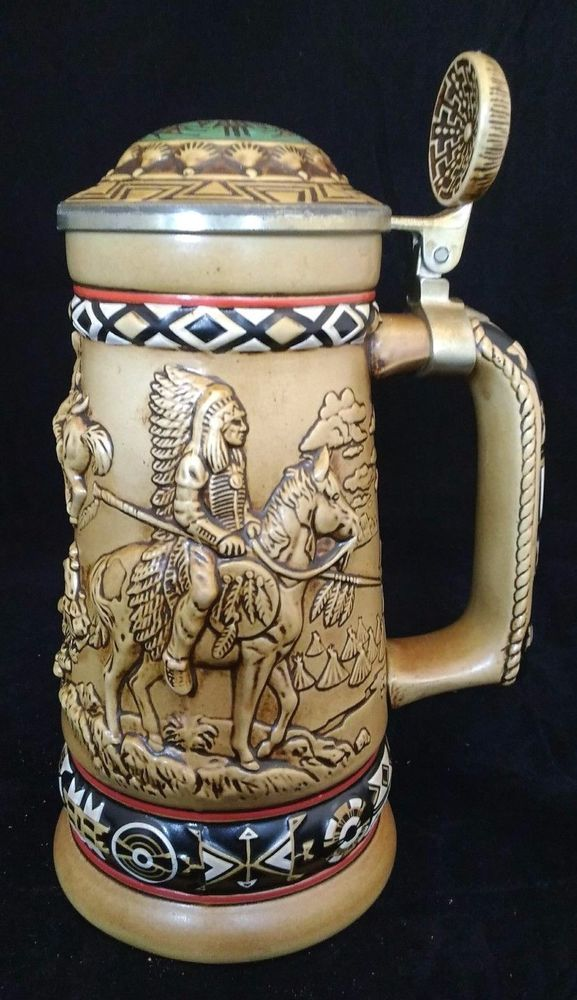 "Vintage 1988 Avon ""Indians Of The American Frontier"" Beer Stein"