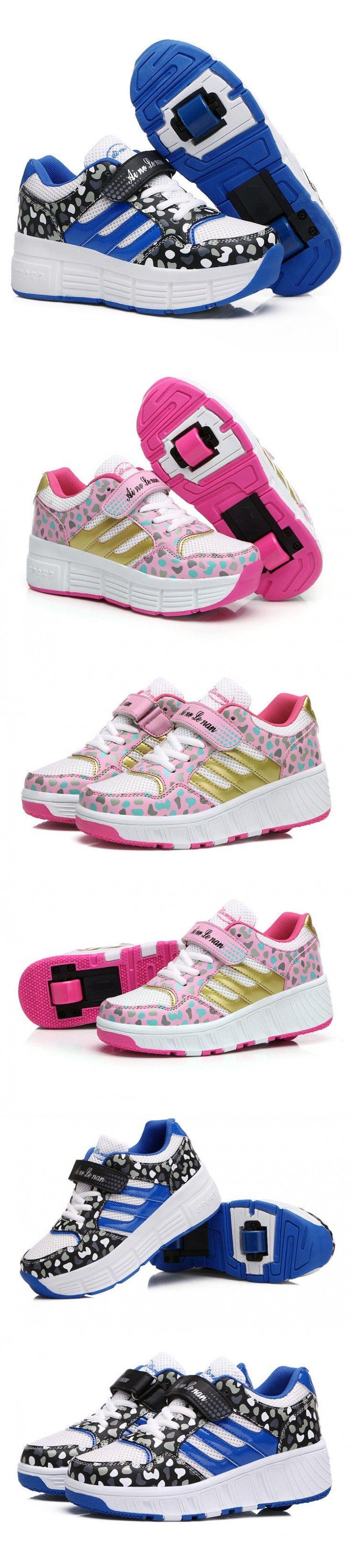 Roller shoes london - Children New Child Heelys Roller Shoes With Wheels Kids Shoes For Children Boys Girls Zapatillas Zapatos De Ruedas G100
