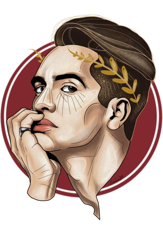 Brendon Urie fan art // eribooooo: I swear that I'll always paint you golden days ⭐️