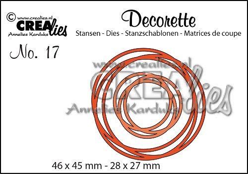 Crealies Intertwined Circles Decorette Die Set