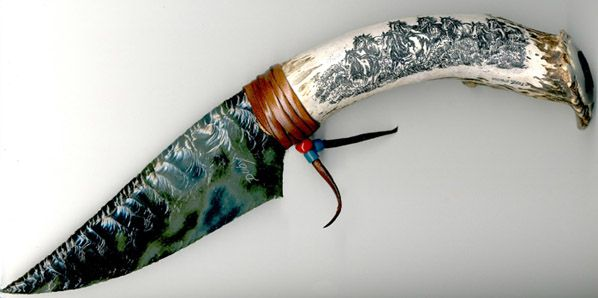 Obsidian Knife, the Aztecs used these types of knives to preform human sacrifice rituals