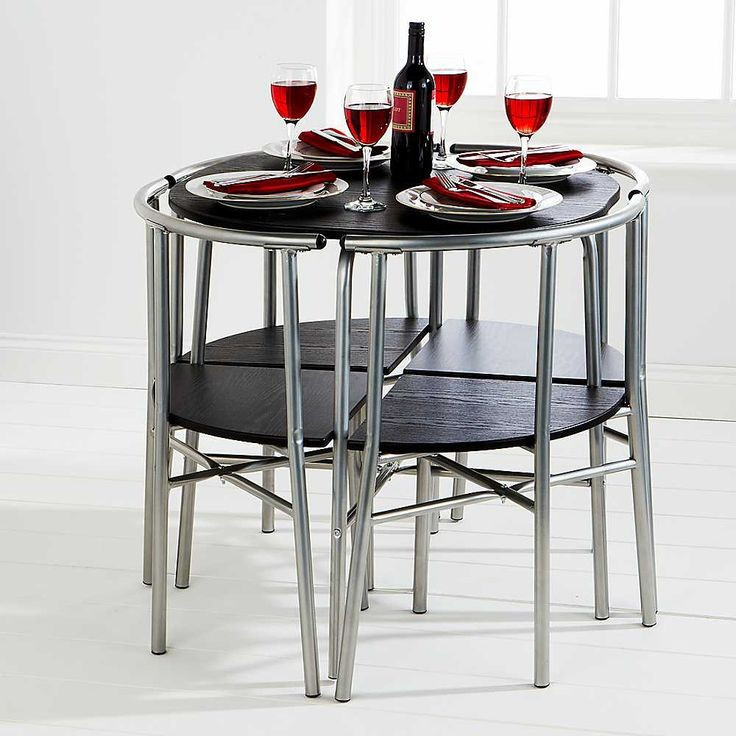 Lovely Round Space Saver Dining Table Sets