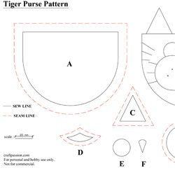 Purse Pattern: Tiger Coin Purse | Free Pattern & Tutorial at CraftPassion.com