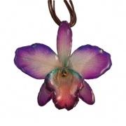 Purple-Cattleya Necklace $45