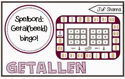 Juf Shanna: Bingo spelbord voor kleuters: getallen en getalbeeld!