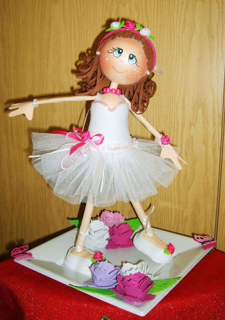 Ballerina in moosgummi