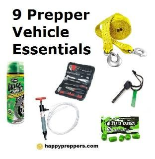 9 CAR ESSENTIALS FOR PREPPERS: Traditionally car essentials might include jumper cables or a little white-boxed first aid kit, but preppers go beyond the ordinary! Here's a list of what to carry in your vehicle: http://www.happypreppers.com/car-essentials.html