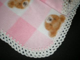 This edging is amazingly fast and simple to do, and looks very pretty!!!  You can use any worsted or baby weight yarn.  Punch holes in your...