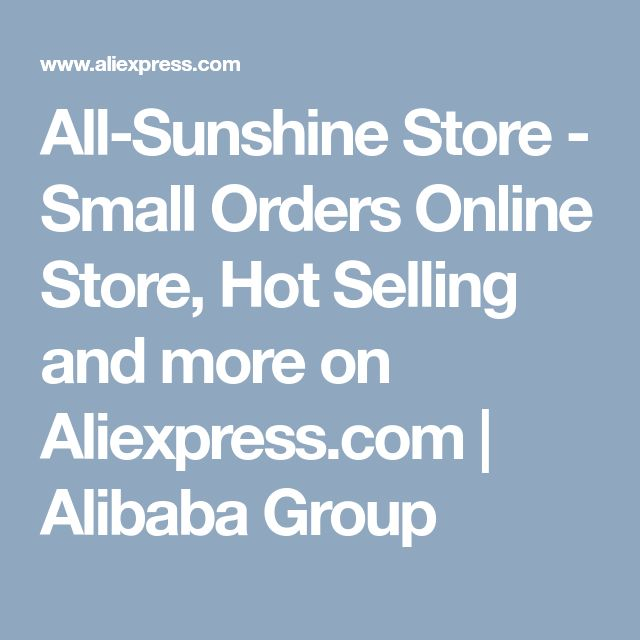 All-Sunshine Store - Small Orders Online Store, Hot Selling and more on Aliexpress.com | Alibaba Group