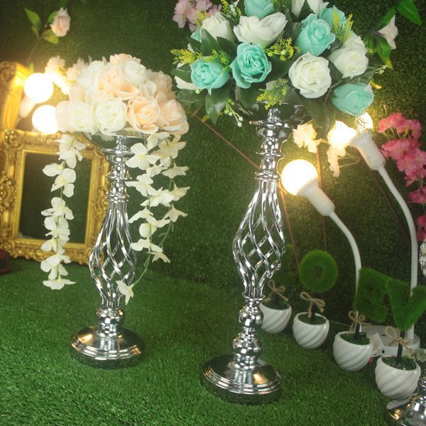 Спираль подсвечник свадьба реквизит главный стол ваза серебряный подсвечник свадебный прием Украшение стола