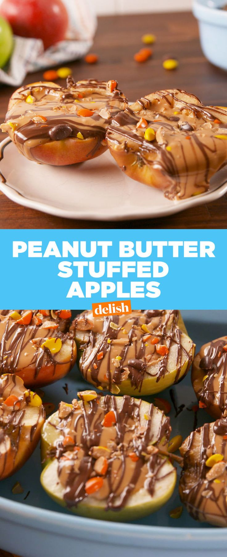 Peanut Butter Stuffed Apples